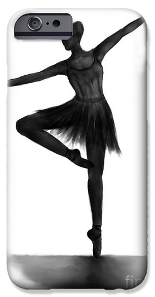 Ballet Dancers iPhone Cases - Grace iPhone Case by Alina Davis