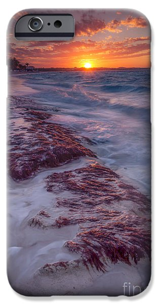 Frigid iPhone Cases - Grace Bay Sunset iPhone Case by Marco Crupi