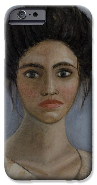 Young Paintings iPhone Cases - Grace iPhone Case by Carol DENMARK