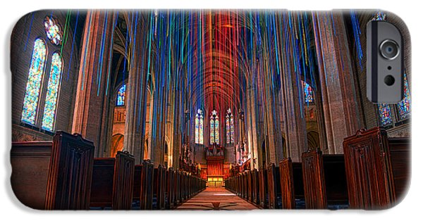 Recently Sold -  - Innocence iPhone Cases - Grace Cathedral San Francisco iPhone Case by Peter Dang