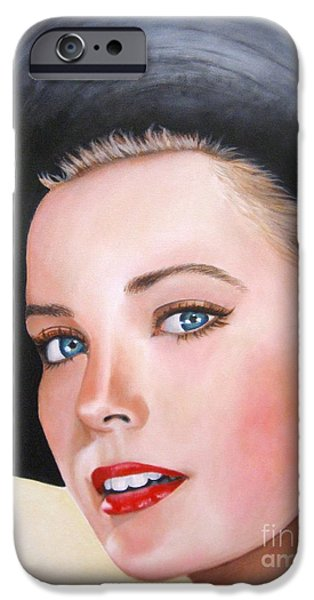 Recently Sold -  - Lips iPhone Cases - Grace Kelly In A Black Hat iPhone Case by Venus