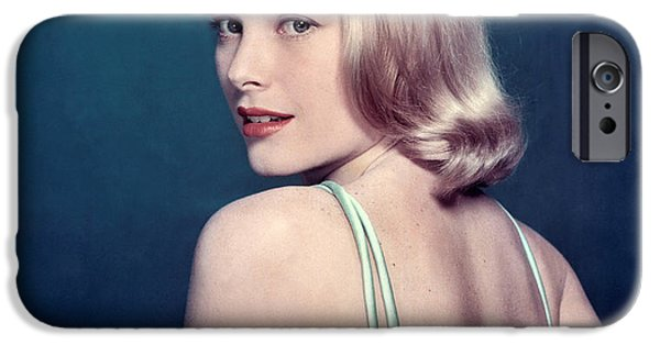 Red Carpet iPhone Cases - Grace Kelly iPhone Case by Nomad Art And  Design