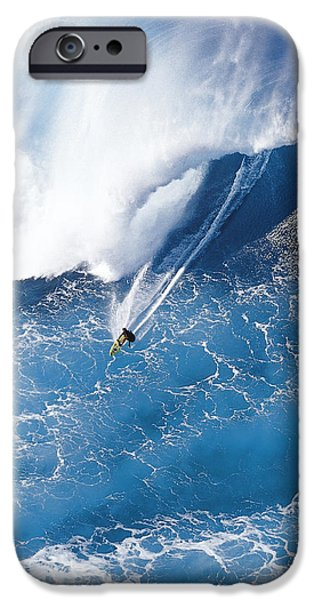 Big Waves iPhone Cases - Grace Under Pressure iPhone Case by Sean Davey