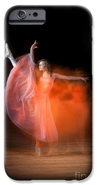 Ballet Dancers Photographs iPhone Cases - Graceful Ballerina Spirit Dance iPhone Case by Cindy Singleton