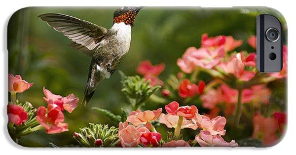Ruby Garden Jewel iPhone Cases - Graceful Garden Jewel iPhone Case by Christina Rollo