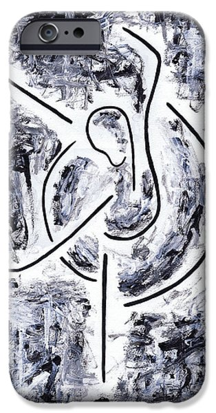 Abstract Expression iPhone Cases - Graceful Swan iPhone Case by Kamil Swiatek