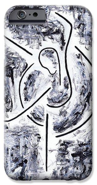 Toronto Paintings iPhone Cases - Graceful Swan iPhone Case by Kamil Swiatek