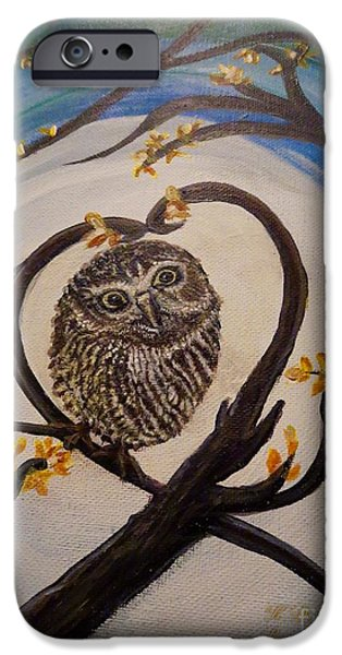 The Nature Center Paintings iPhone Cases - Graciela Finds Her Heartsong Closeup II iPhone Case by Kimberlee  Baxter