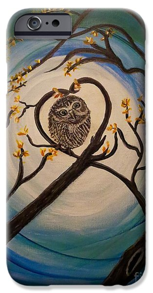The Nature Center Paintings iPhone Cases - Graciela Finds Her Heartsong iPhone Case by Kimberlee  Baxter