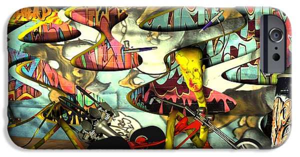 Airbrush iPhone Cases - Graffiti Allreeti iPhone Case by Studio Beat it