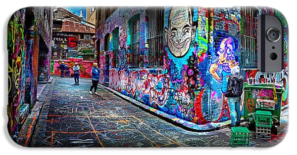 Degree iPhone Cases - Graffiti Artist iPhone Case by Az Jackson