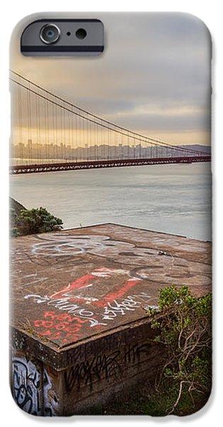 Graffiti by the Golden Gate Bridge iPhone Case by Sarit Sotangkur