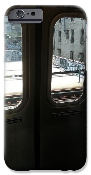 Ridgewood iPhone Cases - Graffiti From Subway Train iPhone Case by Mieczyslaw Rudek