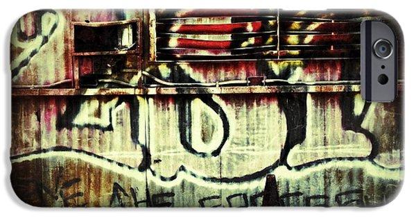 Graffito iPhone Cases - Graffiti  iPhone Case by Jeff Klingler