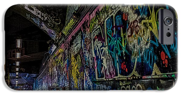 Citylife iPhone Cases - Graffiti Leake Street London iPhone Case by Martin Newman