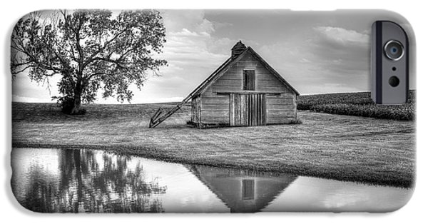 Nebraska iPhone Cases - Grain Barn - Lone Tree iPhone Case by Nikolyn McDonald