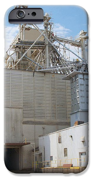 Feed Mill Photographs iPhone Cases - Grain Elevator iPhone Case by Ann Horn