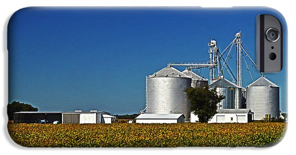Princess Anne iPhone Cases - Grain Elevator on Starr Road iPhone Case by Bill Swartwout