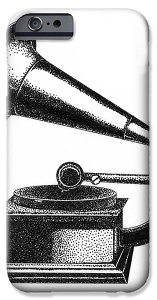 Gramophone iPhone Case by Christy Beckwith