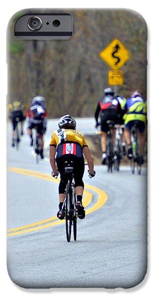 Gran Fondo Bike Ride iPhone Case by Susan Leggett