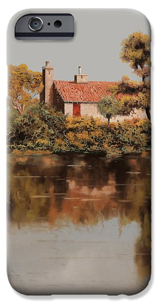 Lake House iPhone Cases - Gran Riflesso iPhone Case by Guido Borelli