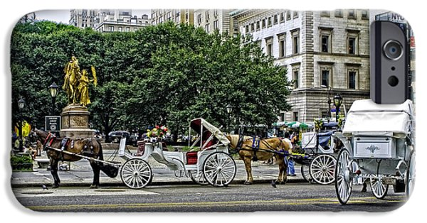 Horse And Buggy Photographs iPhone Cases - Grand Army Plaza - Manhattan iPhone Case by Madeline Ellis