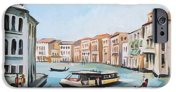 Buildings Mixed Media iPhone Cases - Grand Canal 2 iPhone Case by Filip Mihail