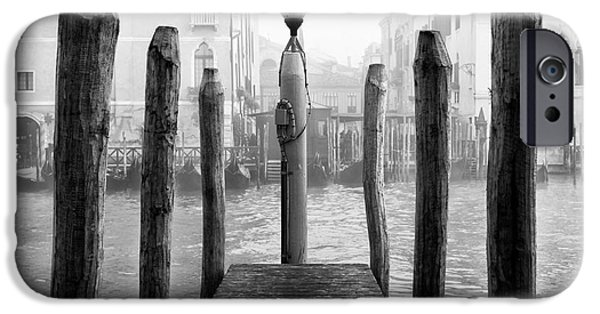 Monotone iPhone Cases - Grand Canal Dock iPhone Case by John Rizzuto