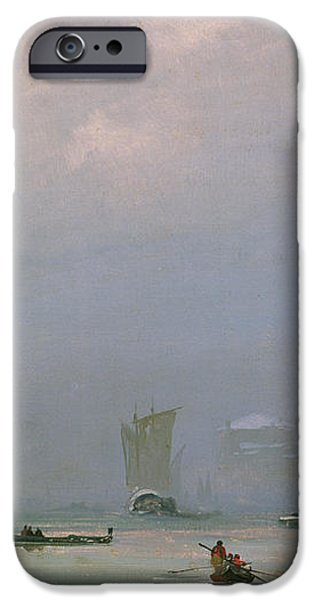 Grand Canal with Snow and Ice iPhone Case by Ippolito Caffi