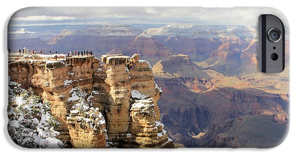 Grand Canyon iPhone Cases - Grand Canyon 3878 3879 iPhone Case by Jack Schultz
