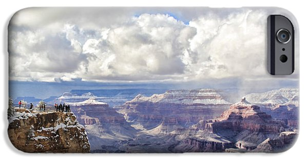 Grand Canyon iPhone Cases - Grand Canyon 3927 iPhone Case by Jack Schultz