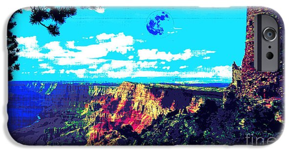 Grand Canyon Digital Art iPhone Cases - Grand Canyon iPhone Case by Adam Asar