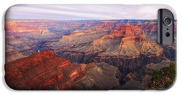 Watson Lake iPhone Cases - Grand Canyon iPhone Case by Alex Mironyuk
