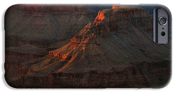 Grand Canyon iPhone Cases - Grand Canyon Alpenglow 3 iPhone Case by Stephen  Vecchiotti