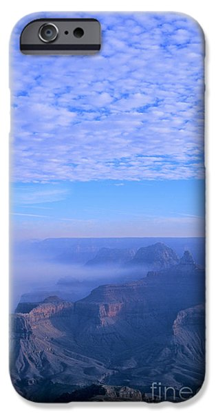 Grand Canyon iPhone Cases - Grand Canyon Blues iPhone Case by Alex Cassels