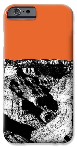 Pen And Ink Digital Art iPhone Cases - Grand Canyon - Coral iPhone Case by DB Artist