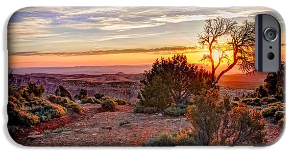 Grand Canyon iPhone Cases - Grand Canyon Desert View Sunrise iPhone Case by Chuck Underwood