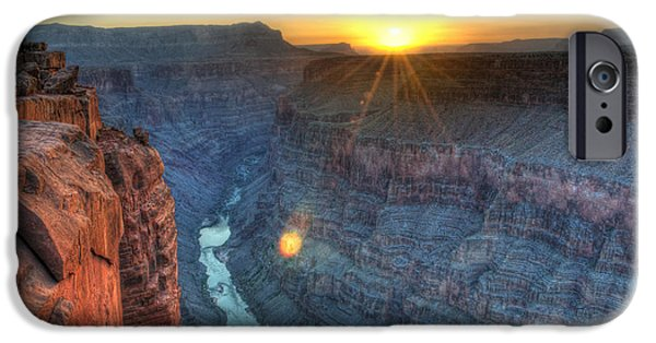 Grand Canyon iPhone Cases - Grand Canyon First Light iPhone Case by Bob Christopher