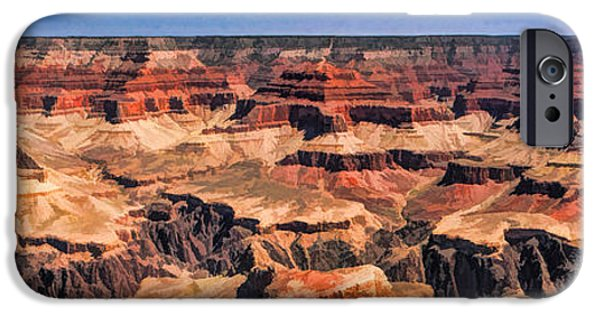 Grand Canyon iPhone Cases - Grand Canyon Grand View Panorama iPhone Case by Christopher Arndt