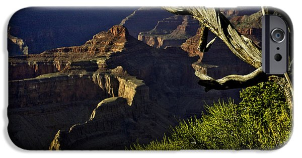 Oak Creek Digital iPhone Cases - Grand Canyon Hermit Point Sunset iPhone Case by  Bob and Nadine Johnston