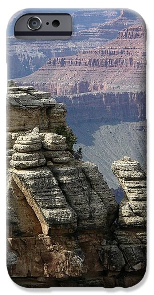 Grand Canyon Digital Art iPhone Cases - Grand Canyon iPhone Case by Igor Smolyar