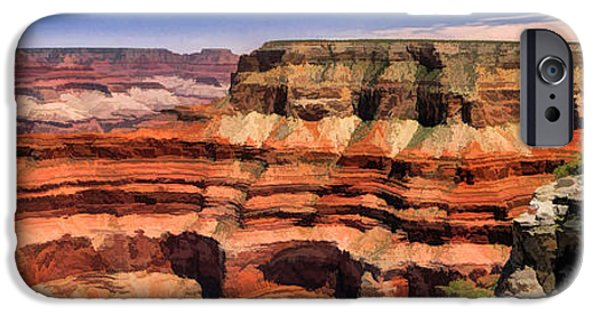 Grand Canyon iPhone Cases - Grand Canyon Mesa Panorama iPhone Case by Christopher Arndt