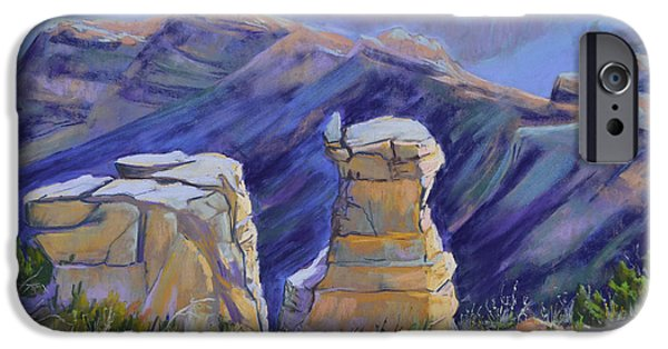 Grand Canyon Pastels iPhone Cases - Grand Canyon Morning II iPhone Case by Patricia Rose Ford