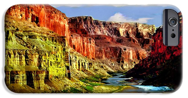 Grand Canyon iPhone Cases - California Condors Grand Canyon Colorado River iPhone Case by  Bob and Nadine Johnston