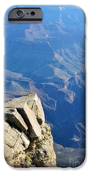 Arizona iPhone Cases - Grand Canyon National Park South Rim Overlook Vertical iPhone Case by Shawn O