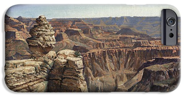 Grand Canyon iPhone Cases - Grand Canyon Panaramic iPhone Case by Don  Langeneckert