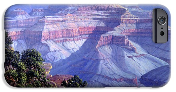 National Park Paintings iPhone Cases - Grand Canyon iPhone Case by Randy Follis