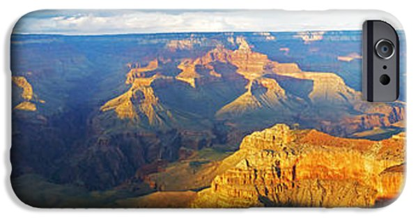 Grand Canyon Digital iPhone Cases - Grand Canyon South Rim Panorama iPhone Case by Toby McGuire