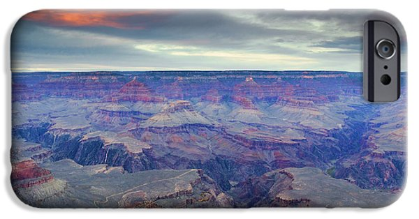 Grand Canyon iPhone Cases - Grand Canyon Storm Set iPhone Case by Mike Dawson