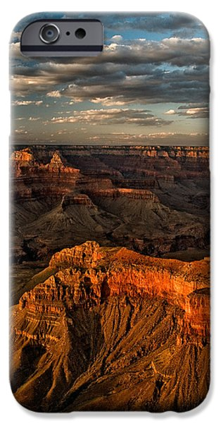 Grand Canyon iPhone Cases - Grand Canyon Sunset iPhone Case by Cat Connor